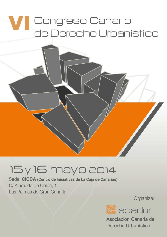 VI Congreso Canario de Derecho Urbanístico