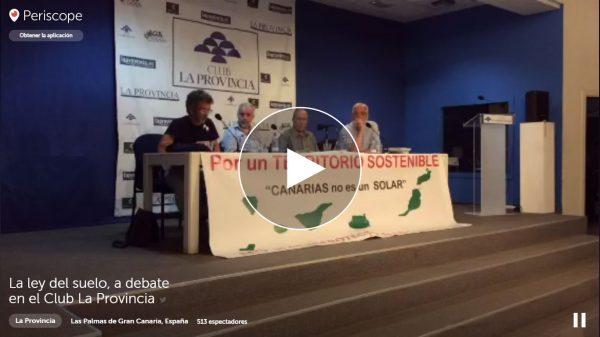 Vídeo de la mesa redonda 'La nueva Ley del Suelo'