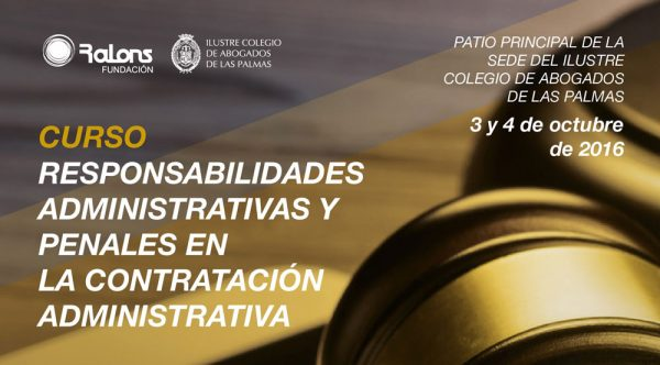 Curso 'Responsabilidades Administrativas y Penales en la Contratación Administrativa'