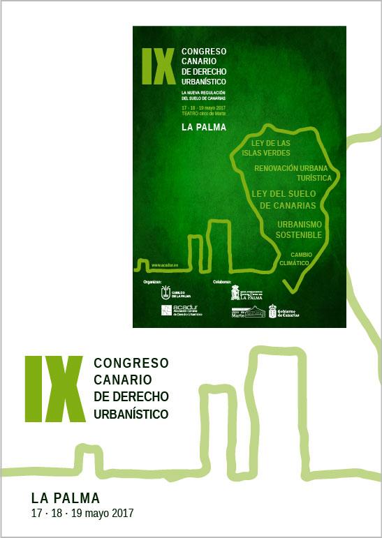 Conferencias y Ponencias del IX Congreso Canario de Derecho Urbanístico