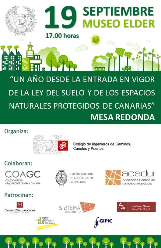 Mesar redonda. Primer aniversario de la Ley del Suelo de Canarias