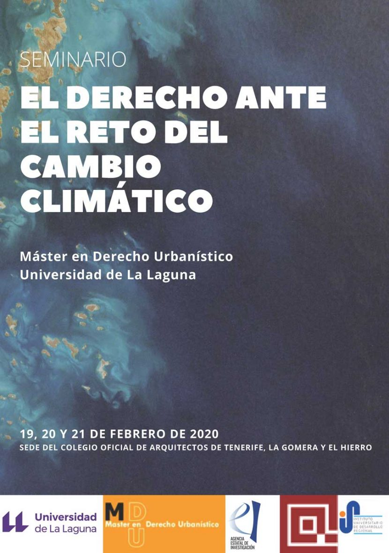 Seminario 'El derecho ante el reto del cambio climático'