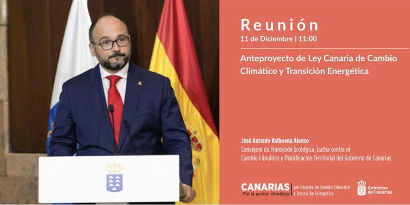Presentación del anteproyecto de Ley canaria de Cambio Climático