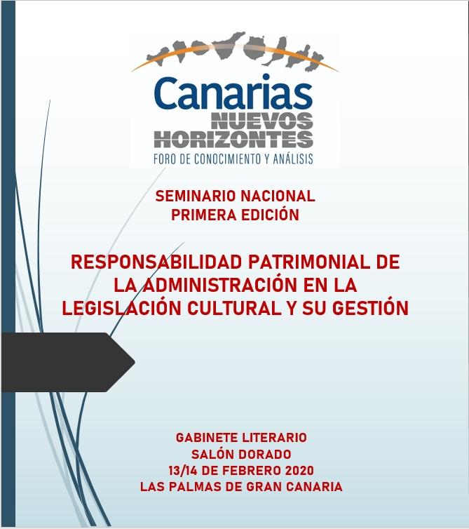 Seminario 'Responsabilidad patrimonial de la administración en la legislación cultural y su gestión'
