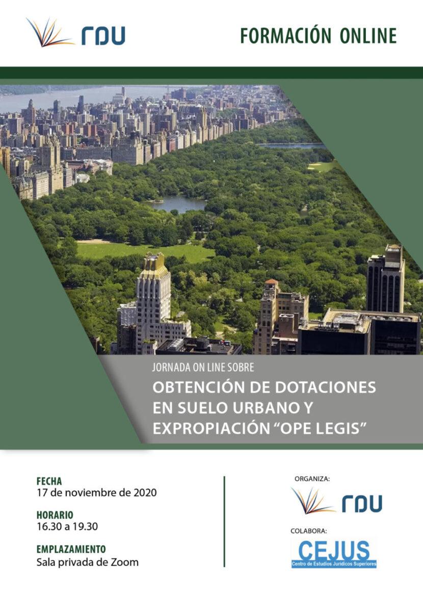 Seminario 'Obtención de dotaciones en suleo urbano y expropiación ope legis'