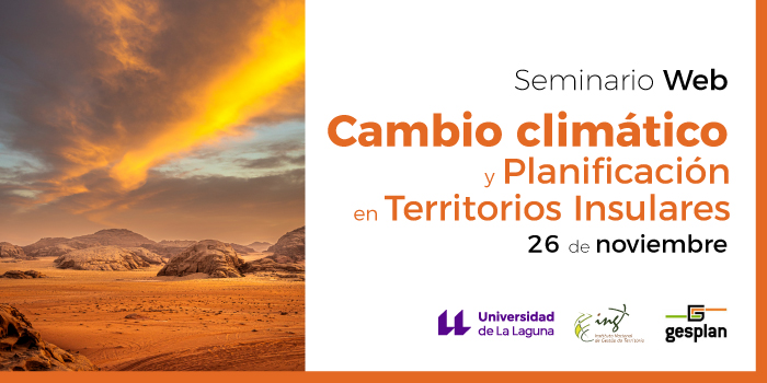 Seminario online 'Cambio climático y planificación en territorios insulares'